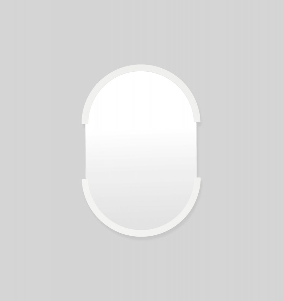 Dawn oval mirror - White 55X80