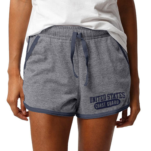 UNITED STATES COAST GUARD LADIES INTRAMURAL STYLE SHORT (GREY)