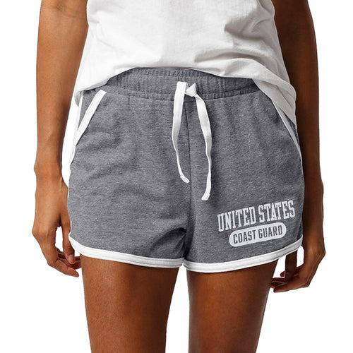 UNITED STATES COAST GUARD LADIES INTRAMURAL STYLE SHORT (GREY/WHITE)