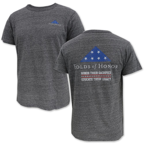 Folds of Honor Flag Tri-Blend T-Shirt (Heather Grey)