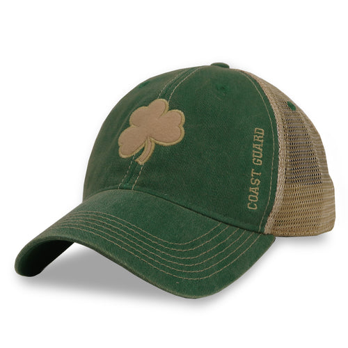 Coast Guard Shamrock Trucker Hat
