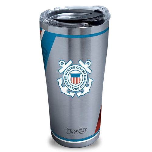 COAST GUARD FOREVER PROUD TERVIS STAINLESS STEEL 20OZ TUMBLER