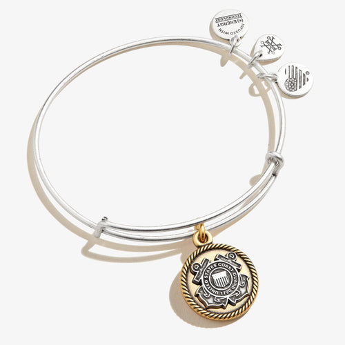Alex and Ani Coast Guard Two Tone Bracelet