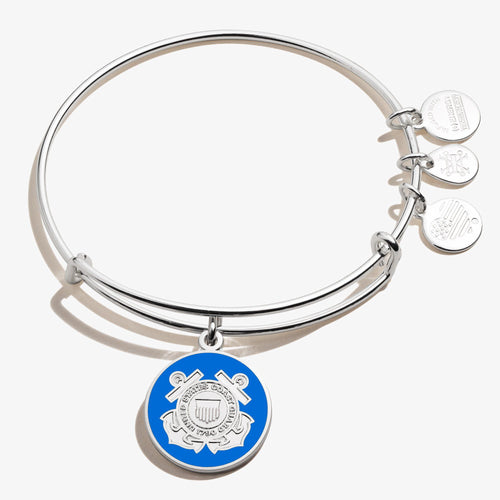 Alex and Ani Coast Guard Bangle Bracelet (Silver)
