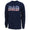 Coast Guard Dad American Flag Long Sleeve T-Shirt (Navy)