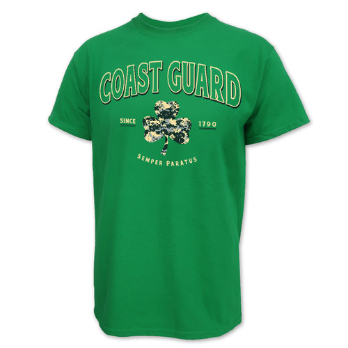 Coast Guard Digi Camo Shamrock T-Shirt (Green)