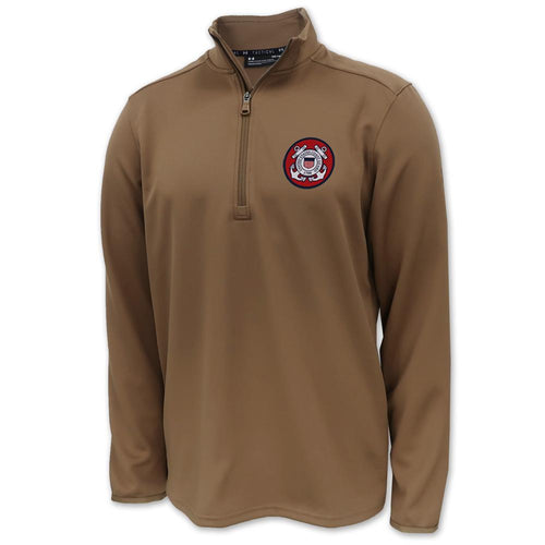 Coast Guard Under Armour Tac Move 1/2 Zip (Coyote Brown)