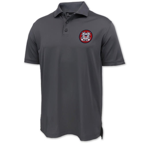 Coast Guard Under Armour Tac Performance Polo (Graphite)