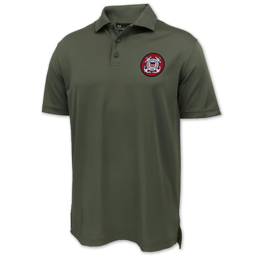 Coast Guard Under Armour Tac Performance Polo (OD Green)