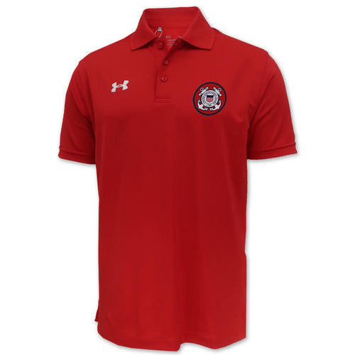 Coast Guard Under Armour Tac Performance Team Polo (Red)