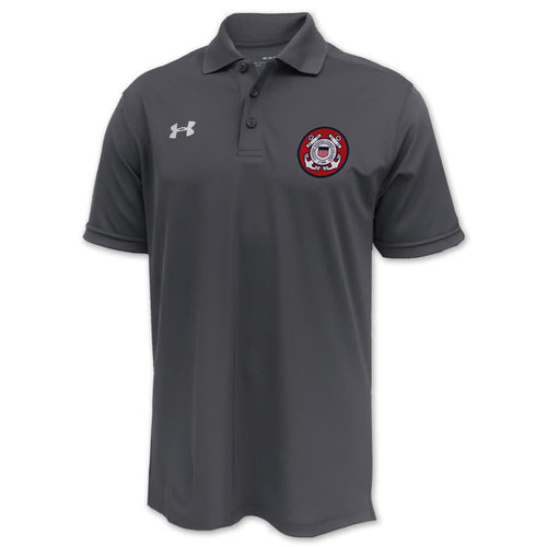 Coast Guard Under Armour Tac Performance Team Polo (Graphite)