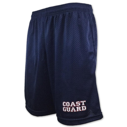 COAST GUARD ATHLETIC POCKET MESH SHORTS (NAVY)