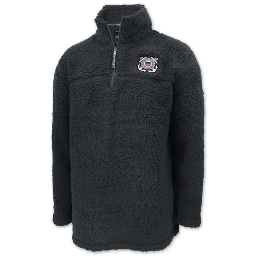 Coast Guard Sherpa Quarter Zip Pullover (Charcoal)