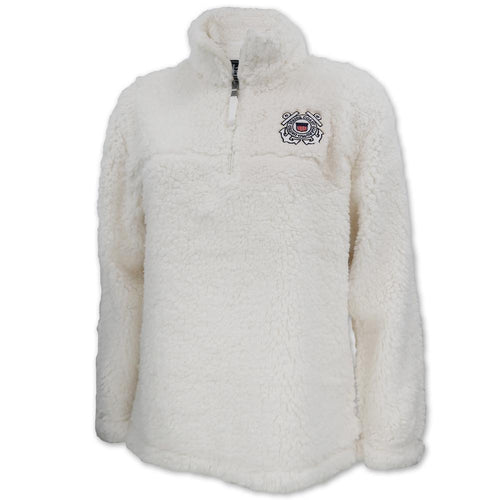Coast Guard Sherpa Quarter Zip Pullover (Natural)