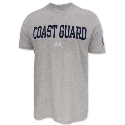 Coast Guard Under Armour Performance Cotton T-Shirt (Silver Heather)