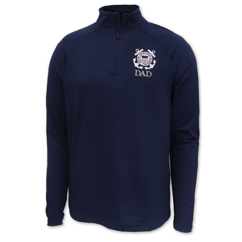 Coast Guard Seal Dad Under Armour Performance 1/4 Zip (Navy)
