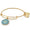 ALEX AND ANI COAST GUARD COLORED CHARM BANGLE (GOLD) 2