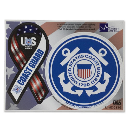 COAST GUARD 2 IN 1 RIBBON AND SEAL MAGNET