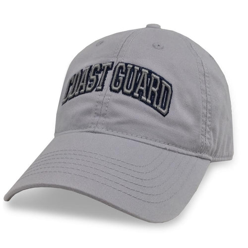 COAST GUARD ARCH LOW PROFILE HAT (SILVER)