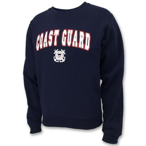 COAST GUARD ARCH SEAL CREWNECK (NAVY) 2