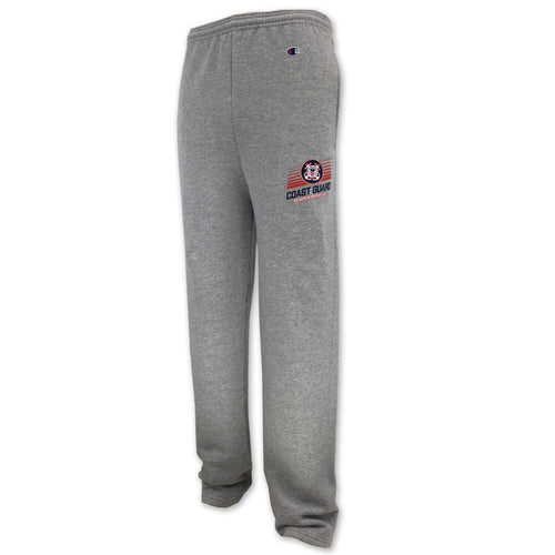 COAST GUARD CHAMPION OPEN BOTTOM SWEATPANT (GREY) 2