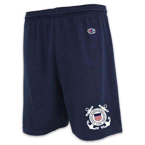 COAST GUARD CHAMPION SEAL LOGO COTTON SHORT (NAVY)