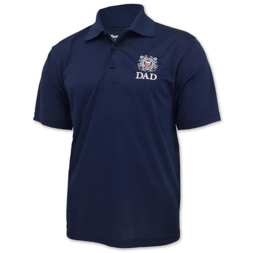 COAST GUARD DAD PERFORMANCE POLO (NAVY) 2