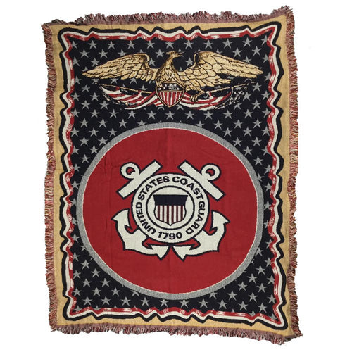 COAST GUARD KNIT BLANKET (50