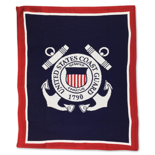 COAST GUARD KNIT BLANKET (NAVY)