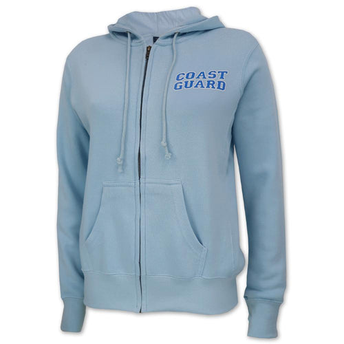 COAST GUARD LADIES FLEECE FULL ZIP (LIGHT BLUE) 1
