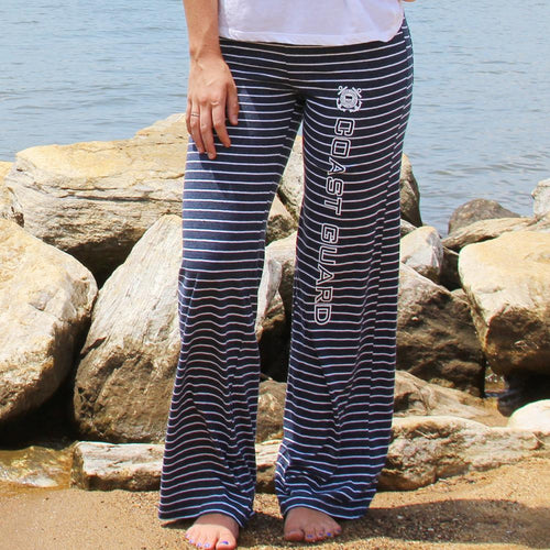 COAST GUARD LADIES MARGO STRIPED PANT (NAVY)