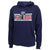 COAST GUARD LADIES UNDER ARMOUR SEAL LOGO ALL DAY FLEECE HOOD (NAVY) 1