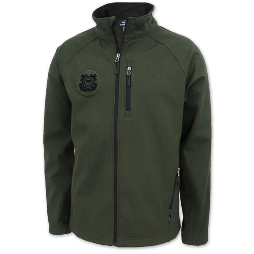 COAST GUARD MATRIX SOFT SHELL JACKET (HEATHER GREEN)