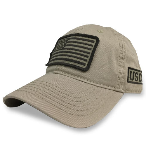 COAST GUARD PATCH FLAG HAT (KHAKI) 6