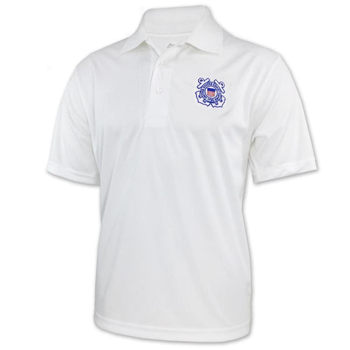 COAST GUARD PERFORMANCE POLO (WHITE) 4