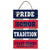 "COAST GUARD PRIDE HONOR TRADITION PLANK LADDER WOOD SIGN (15.5""X10"") 1"