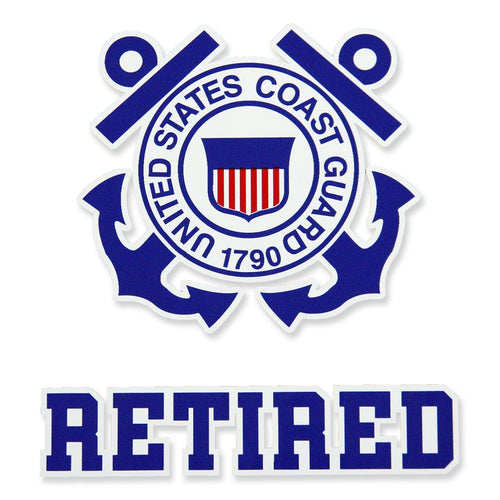 COAST GUARD RETIRED DECAL 2