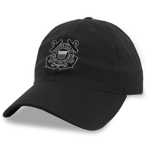 COAST GUARD SEAL COOL FIT PERFORMANCE HAT (DARK GREY) 2