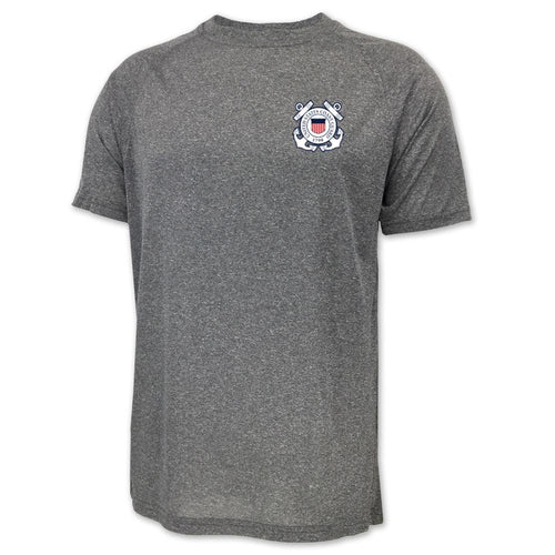 COAST GUARD SEAL LOGO PERFORMANCE T-SHIRT (GREY)