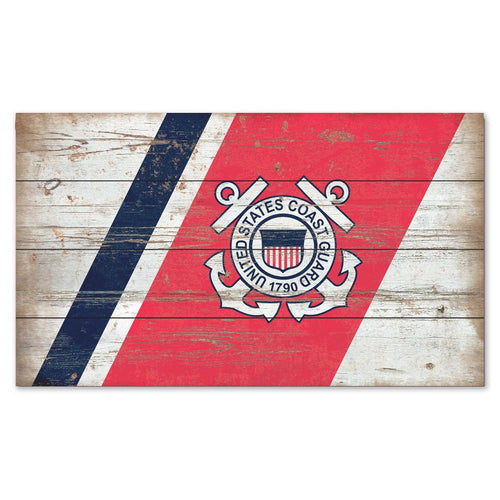 COAST GUARD SEAL PLANK WOOD SIGN (14 IN X 24 IN) 3
