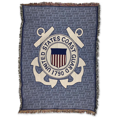 COAST GUARD TAPESTRY THROW (50