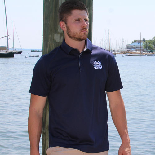 COAST GUARD TONAL SEAL UNDER ARMOUR TECH POLO (NAVY) 3