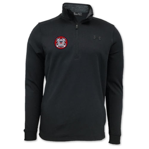 COAST GUARD UNDER ARMOUR ARMOUR FLEECE 1/4 ZIP (BLACK)