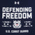 COAST GUARD UNDER ARMOUR DEFENDING FREEDOM TECH TANK (NAVY) 2
