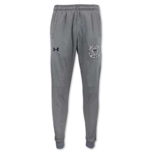 COAST GUARD UNDER ARMOUR FLEECE JOGGERS (GREY) 2