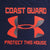 COAST GUARD UNDER ARMOUR PROTECT THIS HOUSE TECH T-SHIRT (NAVY)
