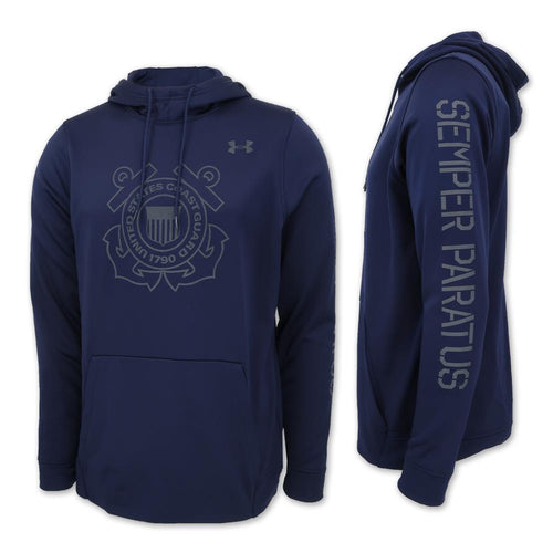COAST GUARD UNDER ARMOUR SEMPER PARATUS ARMOUR FLEECE HOOD (NAVY) 3