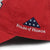 FOLDS OF HONOR USA FLAG LOW PROFILE TWILL HAT (RED) 1