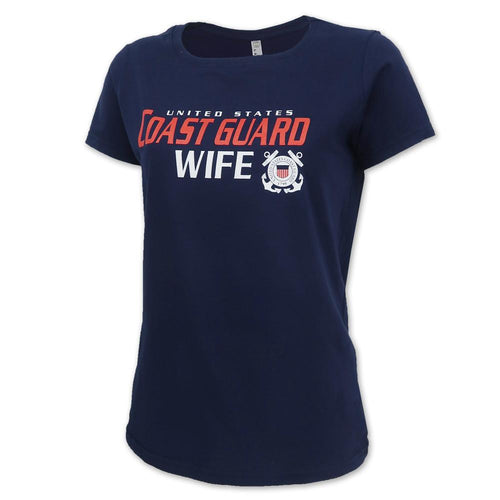 LADIES UNITED STATES COAST GUARD WIFE T-SHIRT (NAVY)