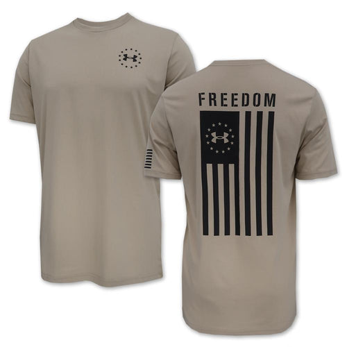 UNDER ARMOUR FREEDOM FLAG T-SHIRT (SAND) 2